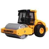 凯迪威车模单钢轮压路机压路车儿童玩具车合金工程车模型建筑车