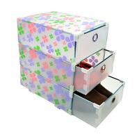 金属边PP三层抽屉收纳盒/整理盒透明衣柜收纳盒 储物箱塑料收纳箱抽屉式收纳柜款式随机