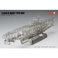 全金属 DIY拼装模型 1/350 德国U型潜艇骨架 全内构 U-boat VIIC