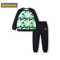 巴拉巴拉儿童套装男秋冬2019新款童装宝宝小童两件套加绒迷彩卫衣