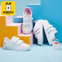 巴布豆童鞋女童小白鞋2021春季新款春秋韩版女孩儿童运动鞋子板鞋