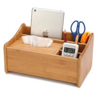 实木遥控器收纳盒创意木质办公桌面整理储物箱客厅茶几收纳架创意礼品
