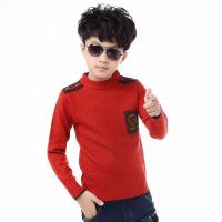 童装款加绒加厚儿童毛衣男童中大童针织衫圆领季套头羊毛衫潮