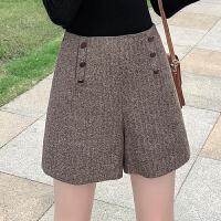MG小象时尚短裤2019新款女秋冬韩版高腰宽松直筒裤学生气质休闲裤