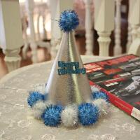 韩版 宝宝周岁生日派对帽子派对用品 无纺布卡通生日帽 1个