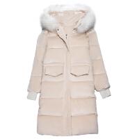 冬季棉衣服羽绒女中长款2018新款韩版学生加厚金丝绒棉袄外套