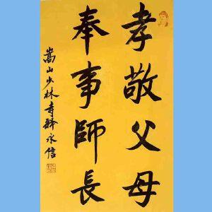 第九十十一十二届全国人大代表,少林寺方丈释永信(孝敬父母)