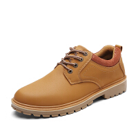 秋季新款男鞋工装鞋磨砂大头皮鞋马丁潮鞋低帮男士休闲鞋子