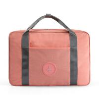行李箱上的旅行包可套拉杆大容量牛津布多功能便携贴身衣物收纳包 升级款-小橘粉(送折叠衣架2个)