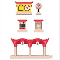 HapeE3702录放音&灯光火车站台儿童早教火车轨道配件玩具