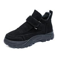 鞋子女2018冬季新款马丁靴女英伦加绒小短靴韩版学生休闲厚底棉鞋