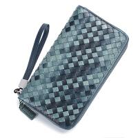 编织男士长款风琴卡包钱包一体包女多卡位包多功能大容量卡片包