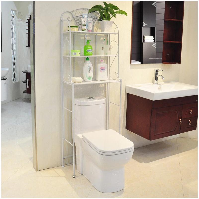 柏易 环保特色欧式浴室多层落地架 加固卫浴置物架马桶架冰箱架支付礼品卡 标准烤漆 安装超简单