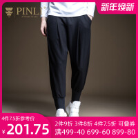 PINLI品立2020秋季新款男�b修身小�_�束�_休�e�L�潮B193317272