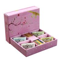白领公社 餐具套装 创意日式陶瓷碗家用米饭碗筷子套装礼品餐具礼盒装婚庆回礼厨房用具套件