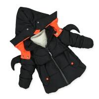 儿童棉衣中长款小童3童装装男童外套2宝宝棉袄小孩季上衣