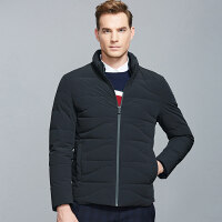 A七匹狼羽绒服男冬季新款时尚商务立领纯色短款青年外套上装