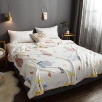 珊瑚绒毛毯冬季加厚法兰绒毯子薄款办公室午睡空调毛巾被盖毯