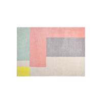 [满199减40]网易严选 黑凤梨 清新趣粉系列居家地毯 青粉拼接