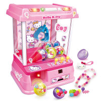 儿童家用抓娃娃机儿童抓娃娃机迷你小型夹公仔机家用投币抓球扭蛋游戏糖果机玩具