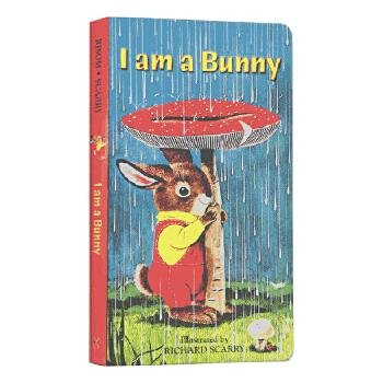【中商原版】【送音频】I Am a Bunny我是一只兔子 0-3岁儿童 英文启蒙绘本书籍正版纸板书 金色斯凯瑞 斯凯瑞创作的金色童书之一!父母选购为孩子的低幼翻翻书 撕不坏