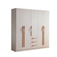 御品工匠 北欧纯实木大衣柜/橡木卧室组合家具收纳柜五门整体 B06五门衣柜