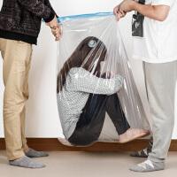 大号棉被抽真空压缩袋大号被子收纳袋2只装真空压缩袋防潮羽绒服被子收纳袋加厚70*100CM