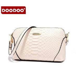 【支持礼品卡】DOODOO 2017新款包包手包女包简约蛇皮纹百搭包日韩风范小包单肩斜跨女士小包包 D6031