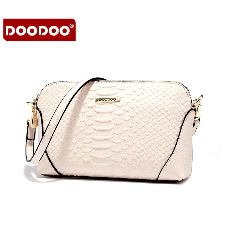 【支持礼品卡】DOODOO 2018新款包包手包女包简约蛇皮纹百搭包日韩风范小包单肩斜跨女士小包包 D6031