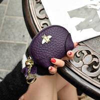 短款钱包女式拉链小钱包牛皮韩国迷你可爱小硬币包零钱袋