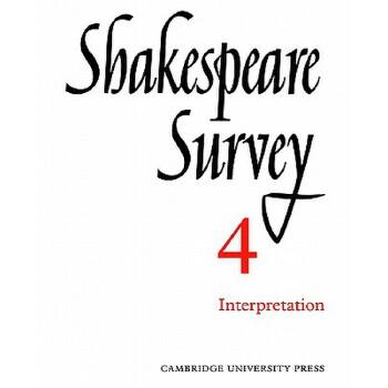 【预订】Shakespeare Survey 9780521523783 美国库房发货,通常付款后3-5周到货!