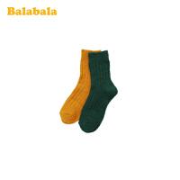 巴拉巴拉儿童长袜秋冬季女童长筒袜加厚保暖小女孩洋气袜子两双装