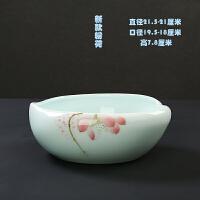 青瓷水培植物容器皿无孔水仙花盆绿萝花瓶铜钱草富贵竹风信子陶瓷 大