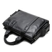 男包真皮商务公文包男士手提包单肩斜挎包休闲牛皮男士包包电脑包