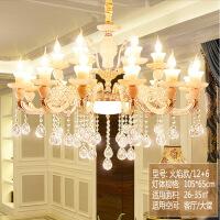 照明客厅卧室圆形长方形水晶灯现代简约LED变色过道天花具吊灯