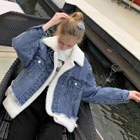 MG小象牛仔外套女2019冬季新款宽松加厚夹克上衣【年货节狂欢 到手价:311元】
