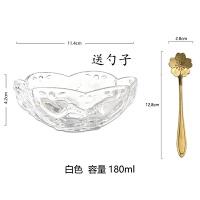 日式樱花甜品碗金边燕窝碗创意糖耳汤碗盅雪糕沙拉碗玻璃碗