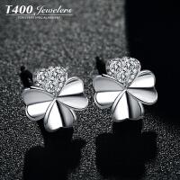 T400 花季天使 耳钉女气质韩国简约个性防过敏925银耳环耳坠首饰品8599