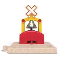 Hape欢乐信号响铃3-6岁儿童早教火车轨道玩具婴幼玩具木制玩具E3706