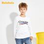 【2.26超品 5折价:39.5】巴拉巴拉儿童打底衫2020新款春季男童长袖T恤纯棉套头上衣百搭潮