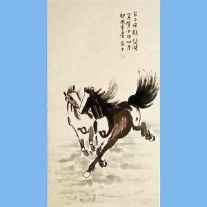 现代画家,美术教育家,建国后任中央美术学院院长,中华全国美术工作者协会主席徐悲鸿黑白(2马3)
