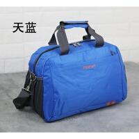 大号旅游行李包单肩斜挎旅行包女手提男韩版轻便短途简约大容量衣服包