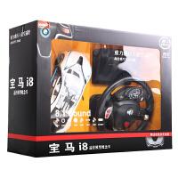 宝马i8漂移遥控车充电方向盘遥控汽车儿童玩具车男孩遥控车模