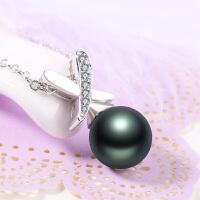 925银贝珠项链 女短款锁骨链气质贝珠吊坠正圆韩版配饰品