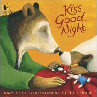 英文原版绘本 晚安吻 Kiss Good Night