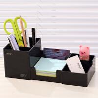得力多功能笔筒创意时尚学生桌面摆件文具收纳盒简约可爱办公用品