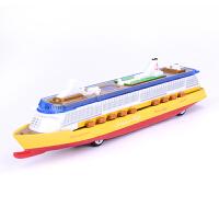 双鱼星号豪华游轮模型儿童玩具合金仿真船舶声光大型邮轮阿依达