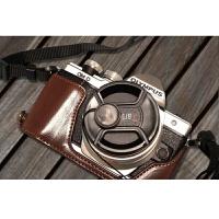 奥林巴斯OMD PENF EPL7 EM5II EM10 Mark2二代皮底座相机包皮套 EM10 二代真皮黑色