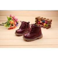 秋冬季儿童棉皮鞋宝宝学步鞋1-2-3岁男女童幼儿马丁靴小童短靴潮