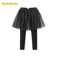 巴拉巴拉女童打底裤2020新款春装儿童裤子中大童网纱裙裤洋气时髦